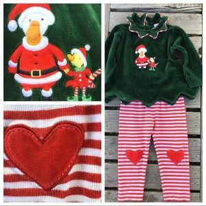 Baby 24mo LeTop Velour & Cotton Xmas Matching Set